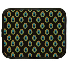 Peacock Inspired Background Netbook Case (xxl)  by Simbadda