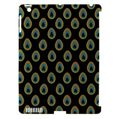 Peacock Inspired Background Apple Ipad 3/4 Hardshell Case (compatible With Smart Cover) by Simbadda