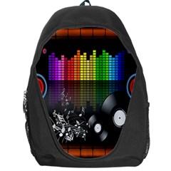 Music Pattern Backpack Bag by Simbadda
