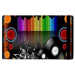 Music Pattern Apple Ipad 2 Flip Case by Simbadda