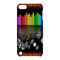 Music Pattern Apple Ipod Touch 5 Hardshell Case With Stand by Simbadda