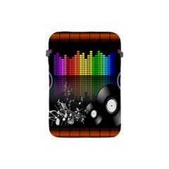 Music Pattern Apple Ipad Mini Protective Soft Cases by Simbadda