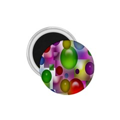 Colorful Bubbles Squares Background 1 75  Magnets by Simbadda