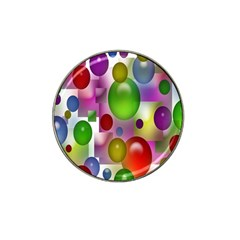 Colorful Bubbles Squares Background Hat Clip Ball Marker by Simbadda