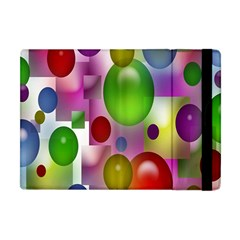Colorful Bubbles Squares Background Apple Ipad Mini Flip Case by Simbadda