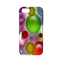 Colorful Bubbles Squares Background Apple Iphone 5 Classic Hardshell Case (pc+silicone) by Simbadda