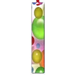 Colorful Bubbles Squares Background Large Book Marks by Simbadda