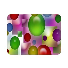 Colorful Bubbles Squares Background Double Sided Flano Blanket (mini)  by Simbadda