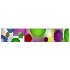 Colorful Bubbles Squares Background Flano Scarf (small) by Simbadda