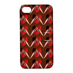 Peacocks Bird Pattern Apple Iphone 4/4s Hardshell Case With Stand by Simbadda