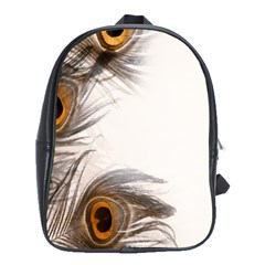 Peacock Feathery Background School Bags(large)  by Simbadda
