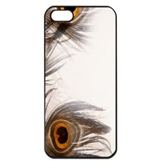Peacock Feathery Background Apple Iphone 5 Seamless Case (black) by Simbadda