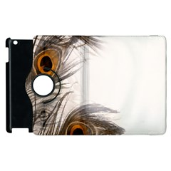 Peacock Feathery Background Apple Ipad 3/4 Flip 360 Case by Simbadda