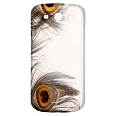 Peacock Feathery Background Samsung Galaxy S3 S Iii Classic Hardshell Back Case by Simbadda