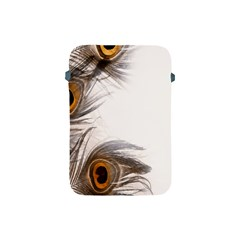 Peacock Feathery Background Apple Ipad Mini Protective Soft Cases by Simbadda