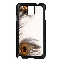 Peacock Feathery Background Samsung Galaxy Note 3 N9005 Case (black) by Simbadda