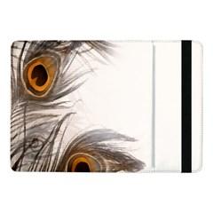 Peacock Feathery Background Samsung Galaxy Tab Pro 10 1  Flip Case by Simbadda