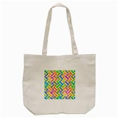 Abstract Pattern Colorful Wallpaper Tote Bag (cream) by Simbadda