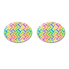 Abstract Pattern Colorful Wallpaper Cufflinks (oval) by Simbadda