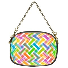 Abstract Pattern Colorful Wallpaper Chain Purses (one Side)  by Simbadda
