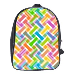 Abstract Pattern Colorful Wallpaper School Bags(large)  by Simbadda