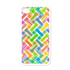 Abstract Pattern Colorful Wallpaper Apple Iphone 4 Case (white) by Simbadda