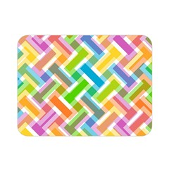 Abstract Pattern Colorful Wallpaper Double Sided Flano Blanket (mini)  by Simbadda