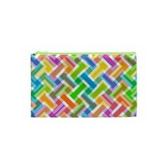 Abstract Pattern Colorful Wallpaper Cosmetic Bag (xs) by Simbadda