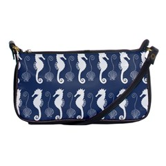 Seahorse And Shell Pattern Shoulder Clutch Bags by Simbadda
