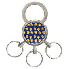 Monkeys Seamless Pattern 3 Ring Key Chains by Simbadda
