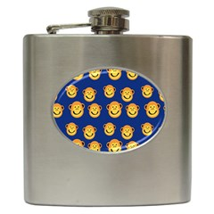 Monkeys Seamless Pattern Hip Flask (6 Oz) by Simbadda