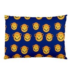 Monkeys Seamless Pattern Pillow Case (two Sides) by Simbadda