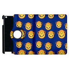 Monkeys Seamless Pattern Apple Ipad 3/4 Flip 360 Case by Simbadda