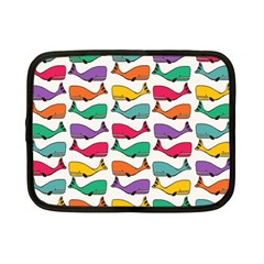 Small Rainbow Whales Netbook Case (small)  by Simbadda
