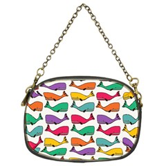 Small Rainbow Whales Chain Purses (two Sides)  by Simbadda