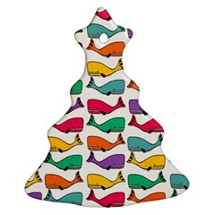 Small Rainbow Whales Christmas Tree Ornament (two Sides) by Simbadda
