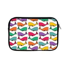 Small Rainbow Whales Apple Ipad Mini Zipper Cases by Simbadda