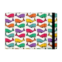 Small Rainbow Whales Ipad Mini 2 Flip Cases by Simbadda