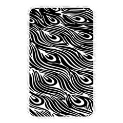 Digitally Created Peacock Feather Pattern In Black And White Memory Card Reader