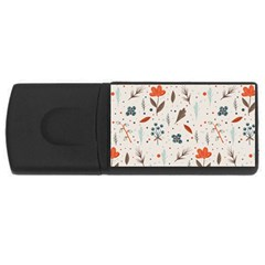Seamless Floral Patterns  Usb Flash Drive Rectangular (4 Gb) by TastefulDesigns
