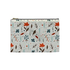 Seamless Floral Patterns  Cosmetic Bag (medium)  by TastefulDesigns