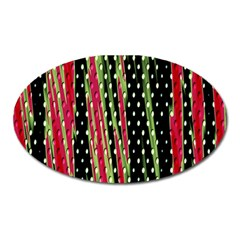 Alien Animal Skin Pattern Oval Magnet by Simbadda