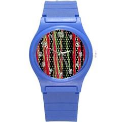 Alien Animal Skin Pattern Round Plastic Sport Watch (s) by Simbadda