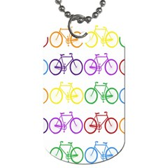 Rainbow Colors Bright Colorful Bicycles Wallpaper Background Dog Tag (two Sides) by Simbadda