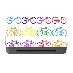 Rainbow Colors Bright Colorful Bicycles Wallpaper Background Memory Card Reader With Cf by Simbadda