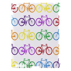 Rainbow Colors Bright Colorful Bicycles Wallpaper Background Apple Ipad 3/4 Hardshell Case (compatible With Smart Cover) by Simbadda