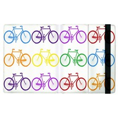 Rainbow Colors Bright Colorful Bicycles Wallpaper Background Apple Ipad 3/4 Flip Case by Simbadda