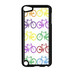 Rainbow Colors Bright Colorful Bicycles Wallpaper Background Apple Ipod Touch 5 Case (black) by Simbadda