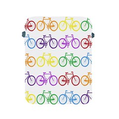 Rainbow Colors Bright Colorful Bicycles Wallpaper Background Apple Ipad 2/3/4 Protective Soft Cases by Simbadda