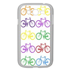 Rainbow Colors Bright Colorful Bicycles Wallpaper Background Samsung Galaxy Grand Duos I9082 Case (white) by Simbadda